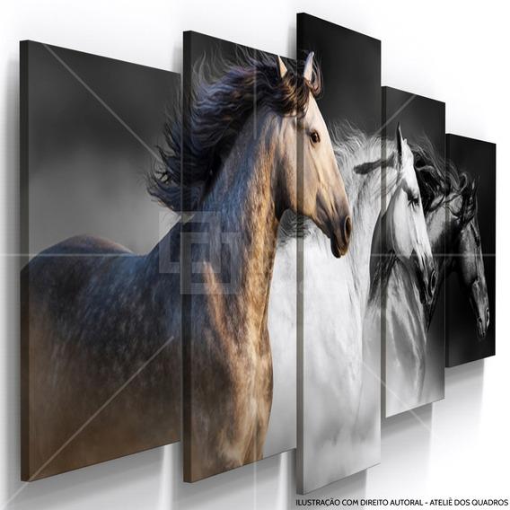 Quadro Decorativo Cavalos Fazenda Sala Copa Restaurante Hall