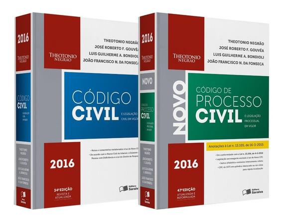 Código Civil E Legislação Em Vigor + Código De Processo 2016