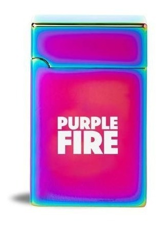 Isqueiro Eletrico Plasma Carregador Usb Purple Fire Furtacor