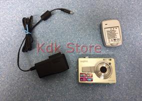 Câmera Digital Sanyo Vpc-es70 Verde 8.1mp Bateria
