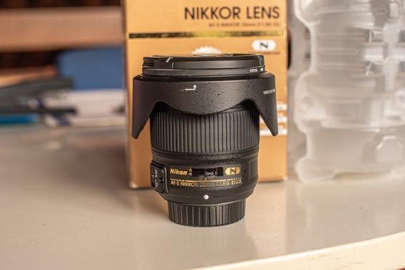 Lente Nikon 20mm F/1.8g Nikkor Ed Fx Af-s Pouco Uso Na Caixa