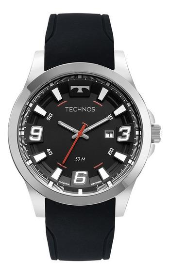 Relógio Technos Masculino 2115mxs/2p Aço Prata Borracha