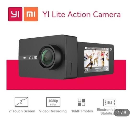Câmera Xiaomi Yi Lite 4k 16mp+case+cartão 64gb+acessórios