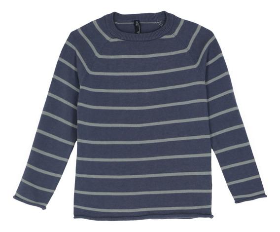 Suéter Pullover Diseño A Rayas De Niños C&a 1052654