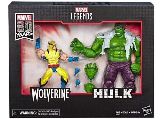 Wolverine Hulk 80 Aniv Comic Marvel Legends Hasbro Toylover
