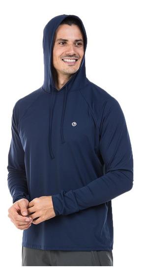 Camisa Uv Masculina Com Proteção Solar Manga Longa Com Capuz