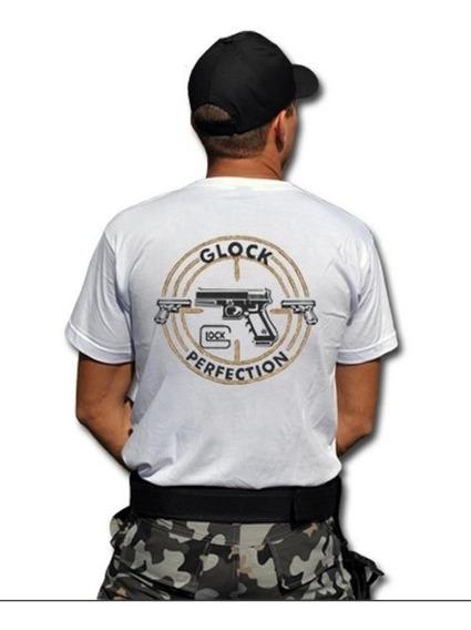 Camiseta Glock Estampada Preta Ou Branca