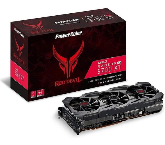 Placa De Video Rx5700 Xt Red Devil 8gb Gddr6 256 Bits