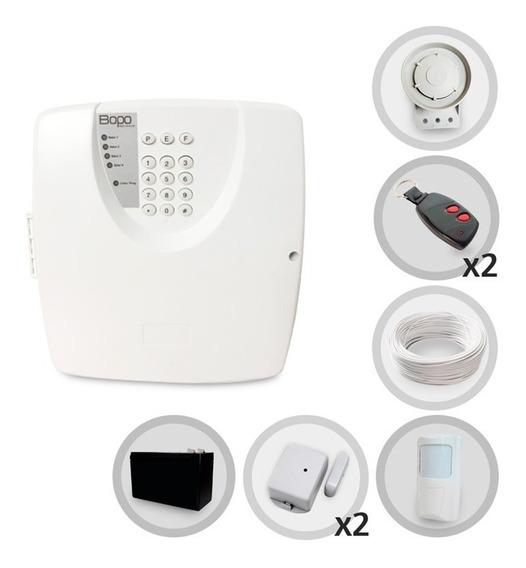 Kit Alarme Residencial Bopo 3 Sensor Sem Fio Bateria