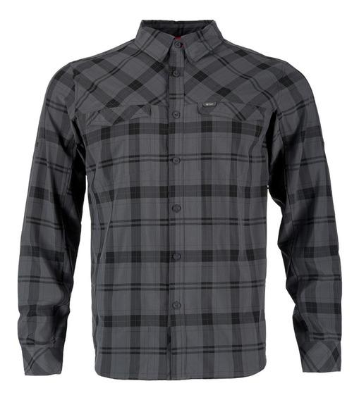 Camisa Hombre Lippi Geo Long Sleeve Shirt Gris I19