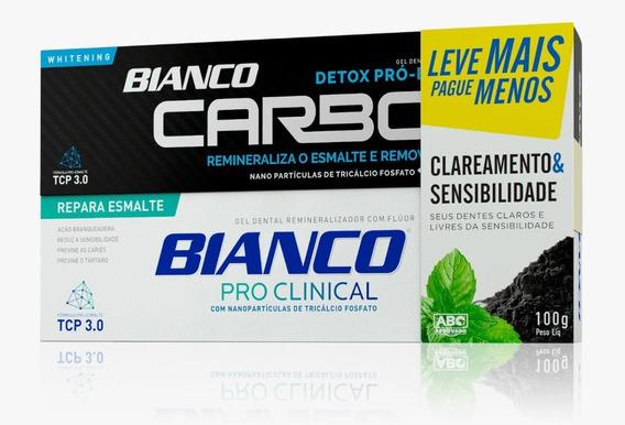Creme Dental Carvão Ativado + Creme Dental P/ Sensibilidade