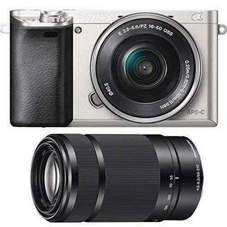 Sony Alpha A6000cámara Con Zoom Alimentación 1650mm Y 5