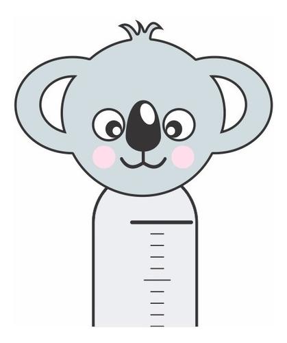 Adesivo Infantil Régua Crescimento Medir Menino Menina Coala