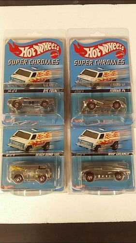 Hot Wheels Super Chromes Plata Beach Bomb Ferrari Whip 1:64