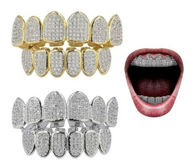 Grillz Costume 18k Cz Coloque Retira No Local