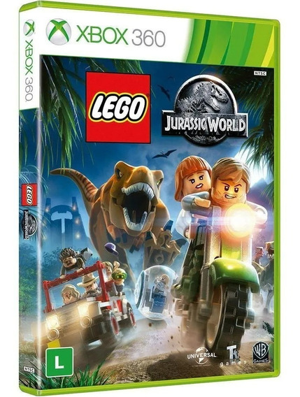 Jogo Lego Jurrasic World Xbox 360 Mídia Física Original Port