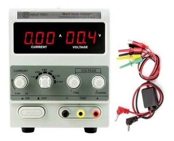 Fonte De Bancada Celular Digital Com Regulagem 2a 2 Amperes