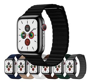 Pulseira Couro Loop Compatível Apple Watch Series 5 E Iwo