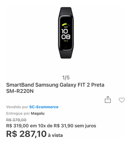 Relogio Samsung Fit 2
