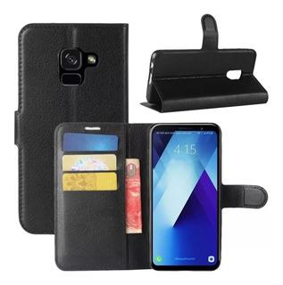 Funda Estuche Flip Cover Agenda Samsung M20 + Templado + Env