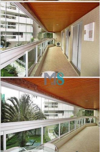 Imagem 1 de 17 de Apartamento Com 3 Dormitórios À Venda, 120 M² Por R$ 1.800.000,00 - São Lourenço - Bertioga/sp - Ap0163