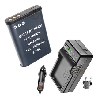 Kit Batería Y Cargador En-el23 El23 Nikon Coolpix S810c P600