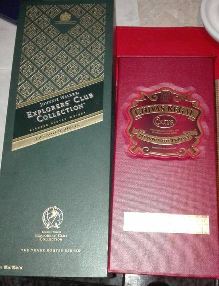 Estuches Vacíos De Whiskys Johnnie Walker Y Chivas Regal