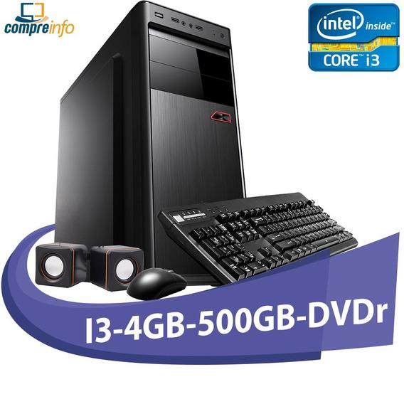 Computador Micro Rio I3-550 4gb Hd 500gb + Dvd + Kit