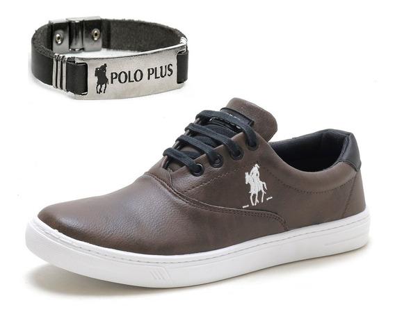 Tênis Masculino Polo Plus Leve Original + Pulseira Brinde