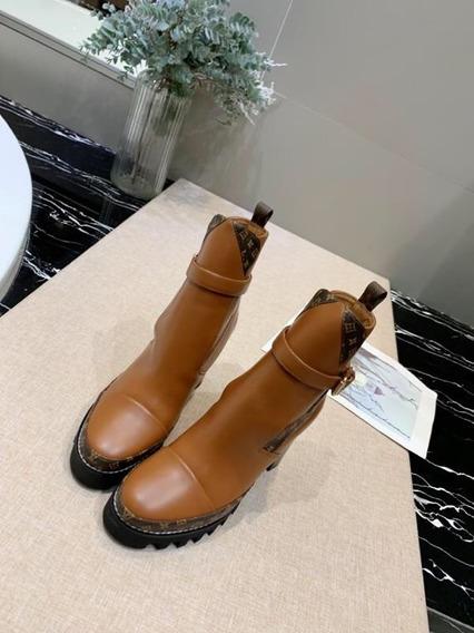 Botas Louis Vuitton Ankle Monograma Piel 100% Envío Gratis