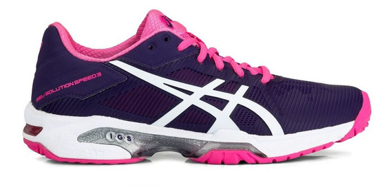 Tênis Asics Gel Solution Speed 3 Roxo E Pink