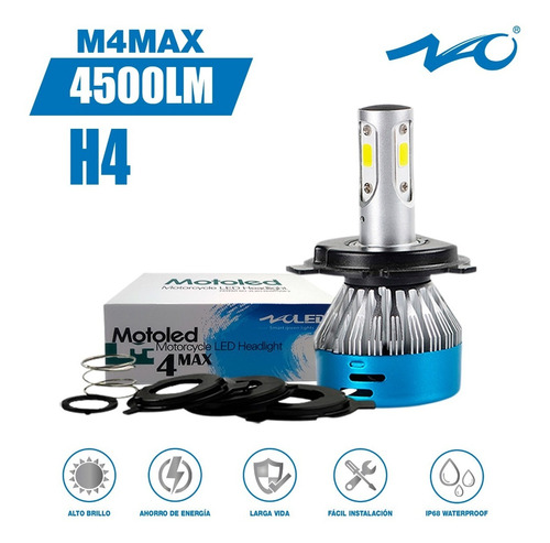 Motoled M4max H4 4500lm Foco Led