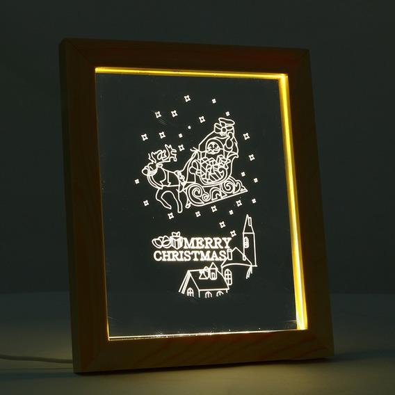 Kcasa Fl 711 3d Foto Quadro Iluminante Led Noite Luz De Made