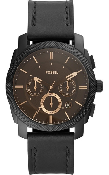Relógio Fossil Nate Cronógrafo Masculino Black Fs5586/0pn Nf