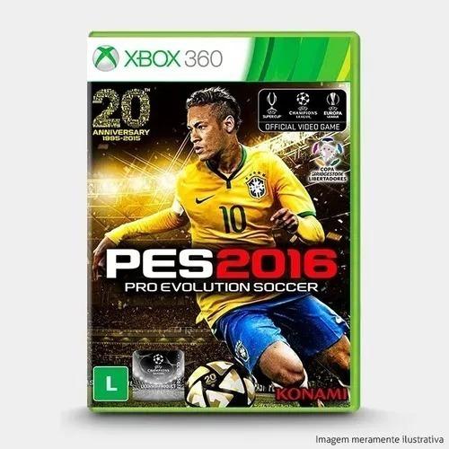 Jogo Pes 2016 Xbox 360 Disco Físico Original Lacrado Port Br