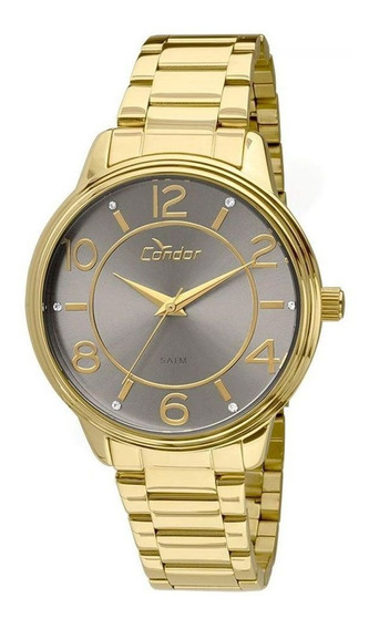 Relógio Feminino Condor Aço Original Co2035k Dourado C/ N F