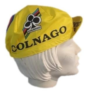 Boné Ciclismo Cap Retrô Colnago Amarelo