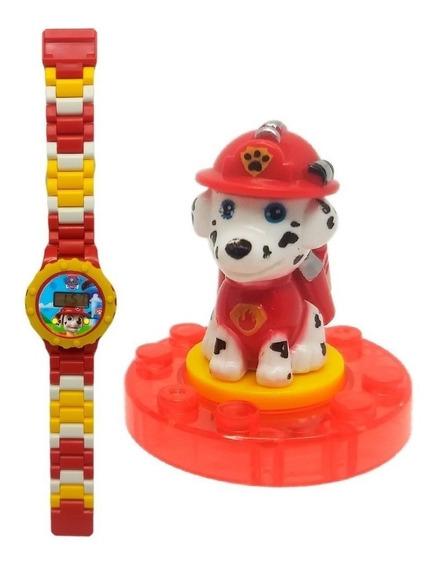 Relógio Digital Infantil Patrulha Canina Lego Marshall