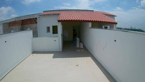 2 Vagas, Cobertura Nova Sem Condomínio, Acesso Interno - Parque Novo Oratório - Santo André/sp - Co0090