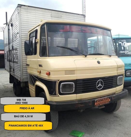 Caminhão Mercedes Benz Mb 708 - Baú