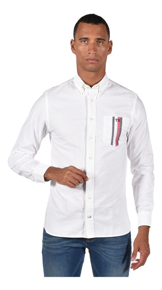 Camisa Regular Fit Tommy Hilfiger Mw0mw10962-902 Hombre