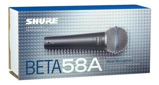 Micrófono Shure Beta 58a,nuevo,original,en Caja C/accesorios