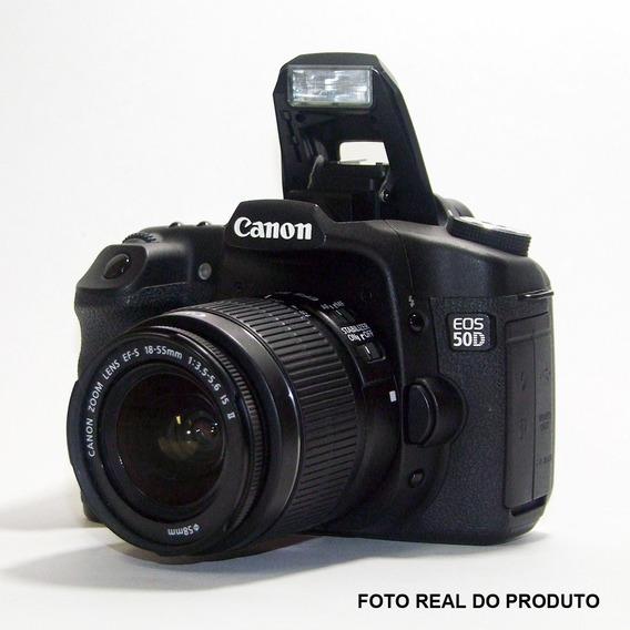 Camera Canon Eos 50d + Lente Ef-s 18-55mm - F/3.5-5.6-ll