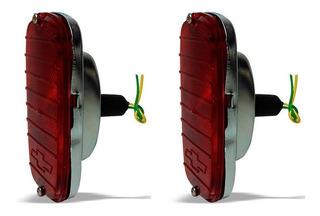 Par Lanterna Traseira A10 C10 D10 C14 Vermelha C/ Gravata Gm