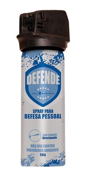 Spray De Defesa Pessoal Jato Direcionado 50g Poly Defensor