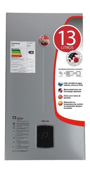 Calefon Gas Licuado 13 Litros Tiro Natural Rheem Ionizado