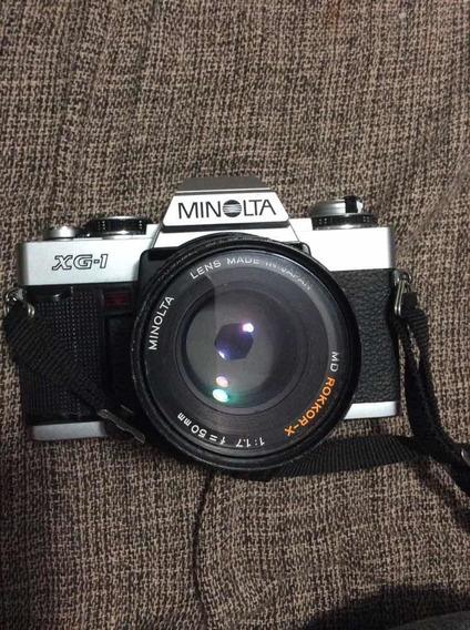 Máquina Fotográfica Minolta Xg 1 + Lente 50 Mm
