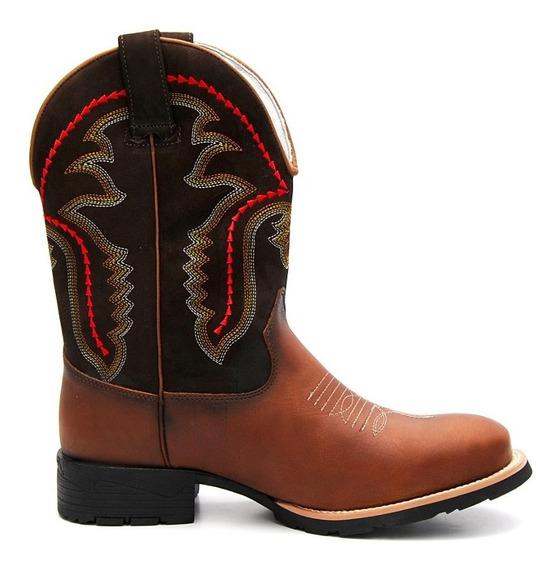 Bota Country Masculina Cano Longo Texana Solado Costurado
