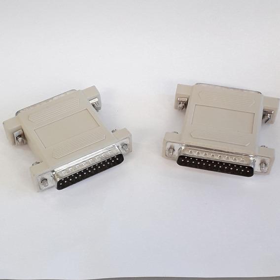 Adaptador Db25m/db25m Kit C/ 3uni