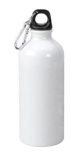 20 Squeeze Aluminio Mosquetão Branco P/ Sublimação 500ml